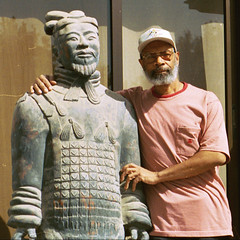 buddhadog with His Terracotta Friend in Xi'an China