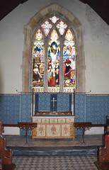 Crucifixion flanked by Abraham and Isaac (Ward & Hughes)