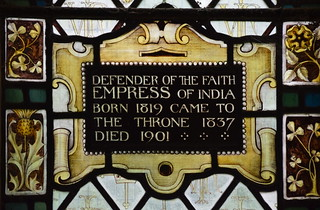 Defender of the Faith Empress of India born 1819 came to the throne 1837 died 1901