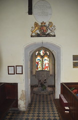 baptistry entrance and royal arms of Victoria