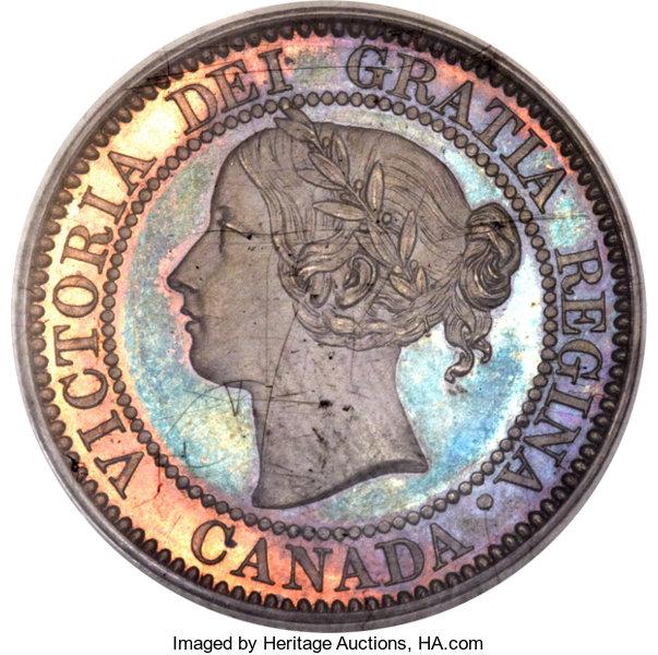 1858 Canada specimen cent obverse