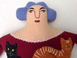 cat lady pillow doll