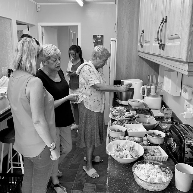 The kitchen is the social hub when the family meet up