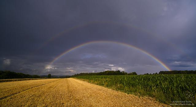 Rainbows over Hallertau