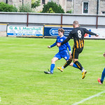 Kai Ross (8) fires in the Huntly equaliser