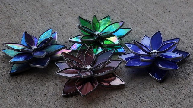 Summer Cement Lilies