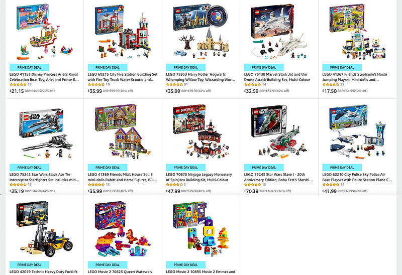 LEGO Prime Day Deals
