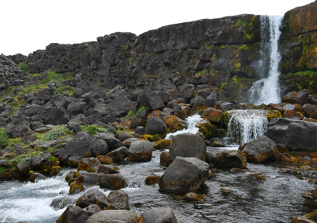 Öxarárfoss at Þingvellir National Park