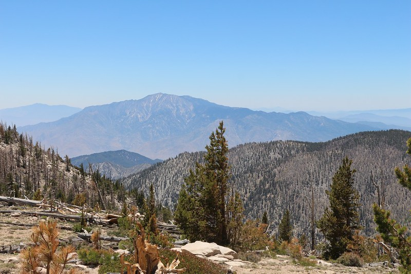 View south to San Jacinto Peak from the summit of Ten Thousand Foot Ridge (Peak 10094)