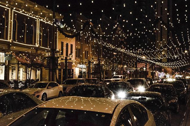 Nighttime Traffic on Larimer Square