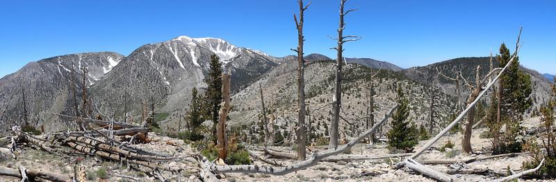 Panorama view west from the summit of Ten Thousand Foot Ridge (Peak 10094)