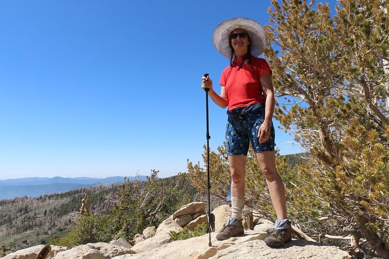 A happy Vicki on the summit of Lake Peak