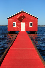 Crawley Edge Boatshed Turns Red For Manchester United