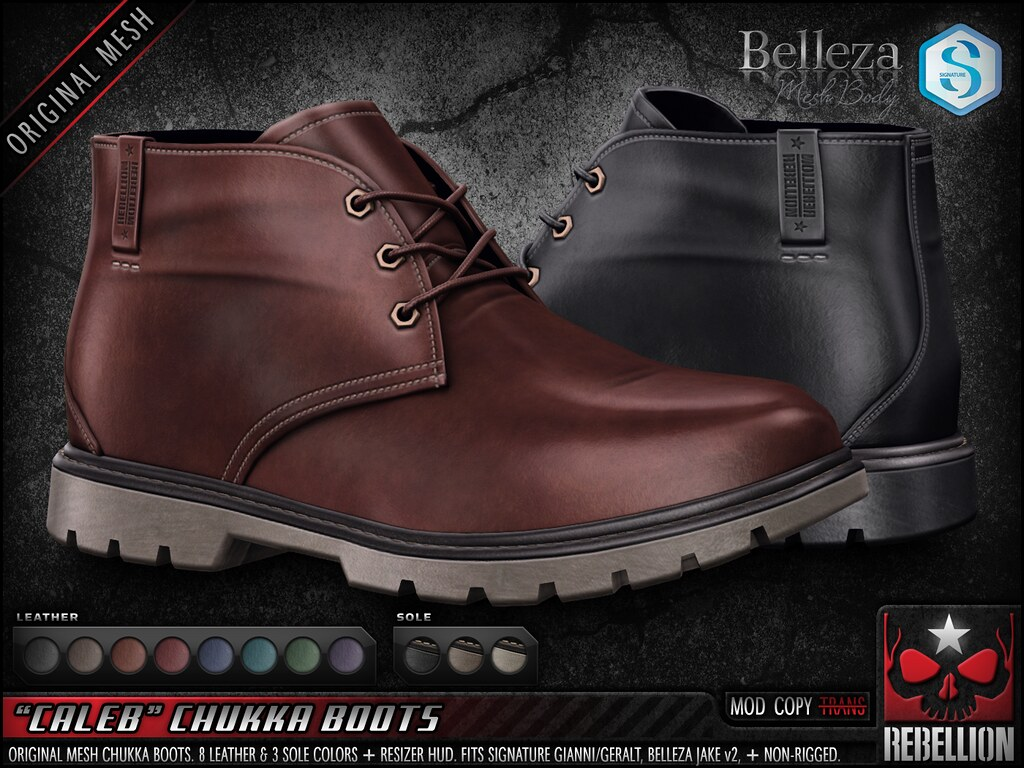 "= REBELLION = ""CALEB"" CHUKKA BOOTS"