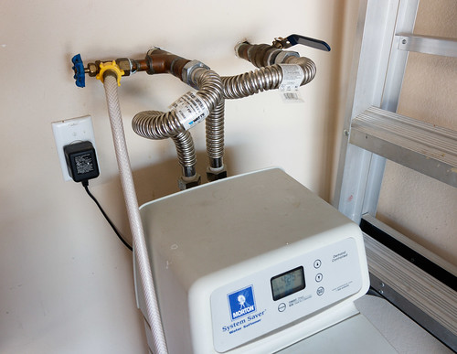 using bypass upstream of water softener for aquarium water changes