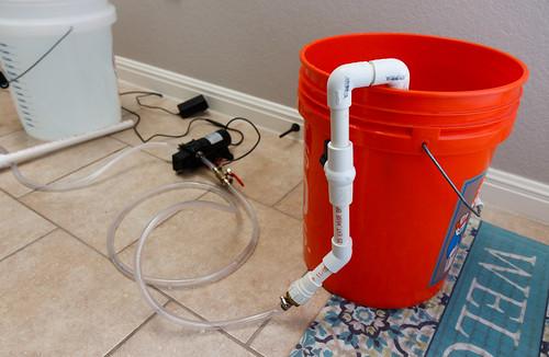 assembled pvc for aquarium water change