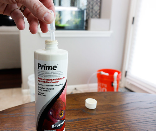 Seachem Prime water conditioner for weekly water change