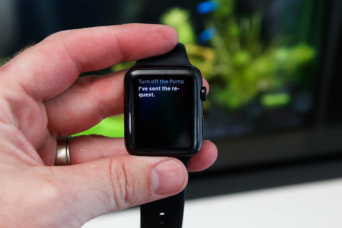 use smart plugs and apple watch to control aquarium pump operation
