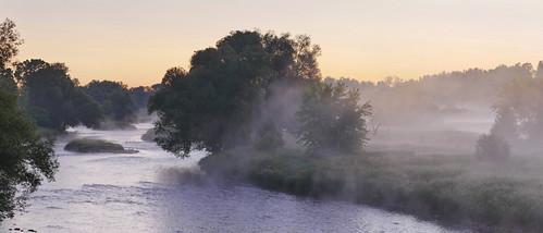 panorama morningfog sunrise grandriver pilkingtontownship ontario canada