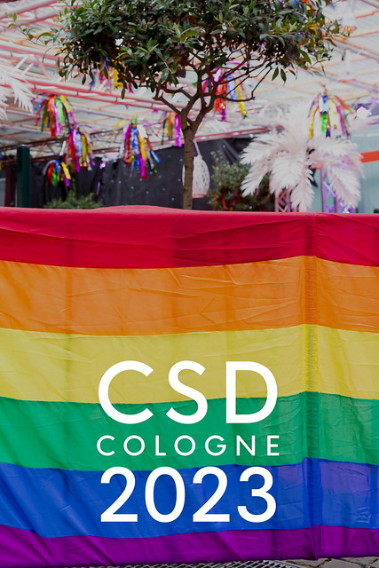 Rainbow flag is a symbol for the CSD Cologne 2023