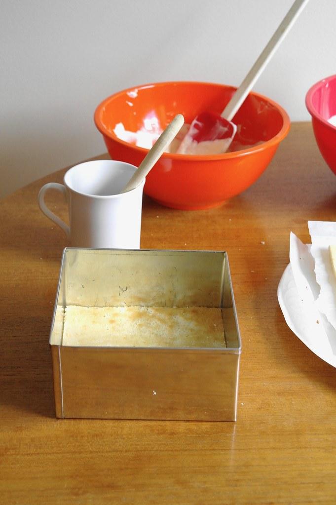 lemongrass cardamom peach mousse cake