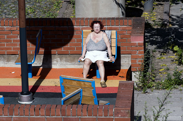 Sunbathing in Helsinki