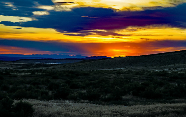 Sunset From Red Gulch Tracksite