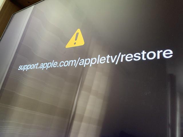 Apple TV 4K 起動不可能