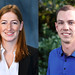 Abigail Hunter (left) and Shea Mosby are recipients of the Presidential Early Career Award for Scientists and Engineers.