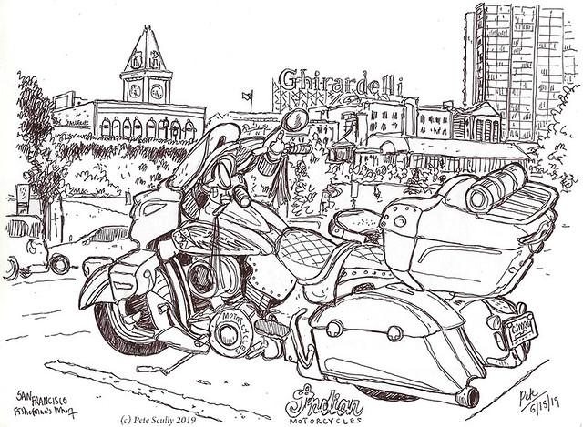 SF Ghirardelli motorbike