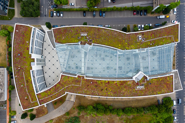 Aerial view of the Federal Administration Office