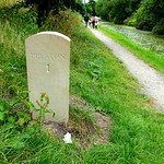 New milestones on the Lancaster Canal at Preston  (well a couple of weeks old)