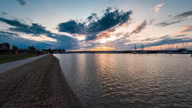 Sonnenuntergang am Neusiedlersee