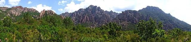 Panoramique   Crête de Cervi -  Capellu
