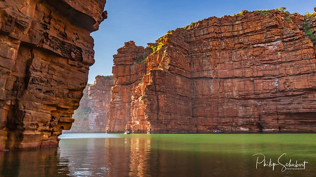 King George River - Northern Kimberley. falls off the Kimberley Plateau with a thunderous roar directly into the ocean far below.A very wild and remote place accessible only by boat or helicopter.