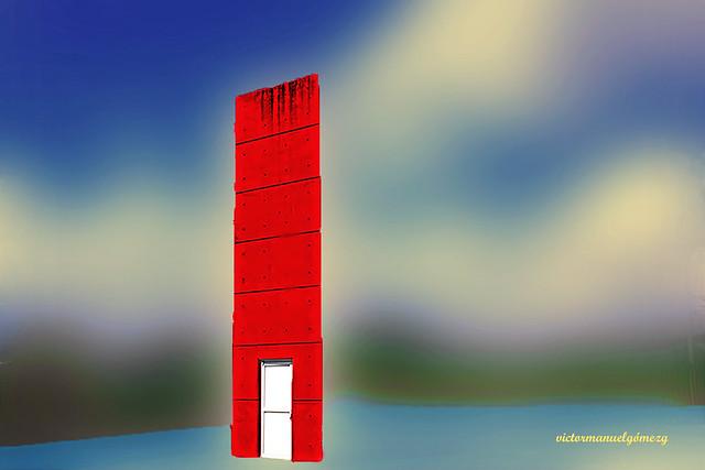THE WHITE DOOR.
