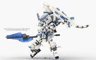 RX-0 Full Armor Unicorn Gundam Plan B Destroy Mode, Perfectibility Chibi Type Pose 02