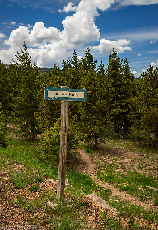 Crater Lake Trail Sign