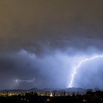 14. Juuli 2019 - 19:34 - Bright lightning flash over Tucson AZ