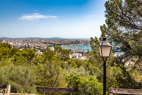 View from the Castell de Bellver on Palma 1076