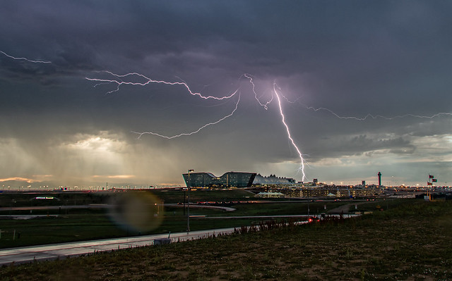 Thunderstorm Over The Airport