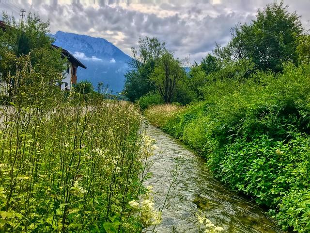 Brook near Floriberg between Oberaudorf and Kiefersfelden, Bavaria, Germany