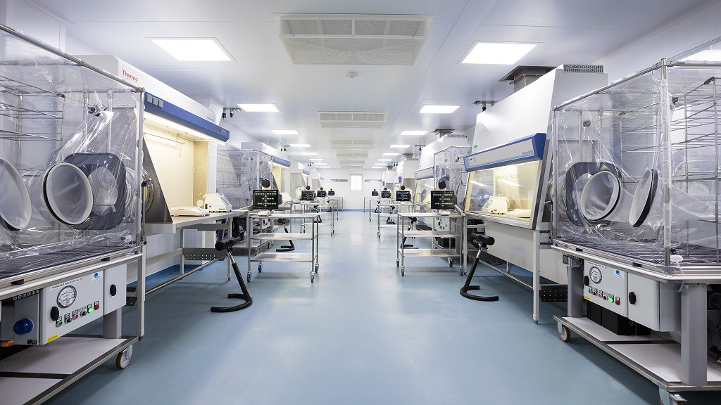 The clean room of Bath ASU, University spin-out , where they compound life-changing drugs