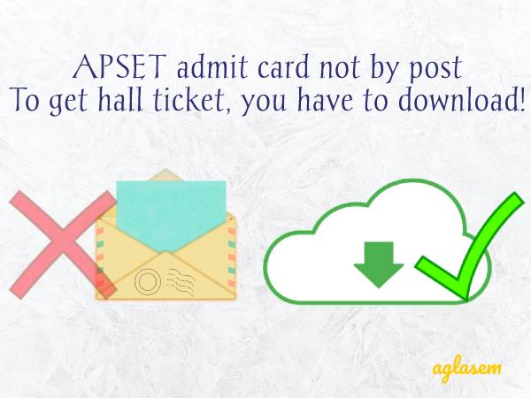 APSET Hall Ticket 2019