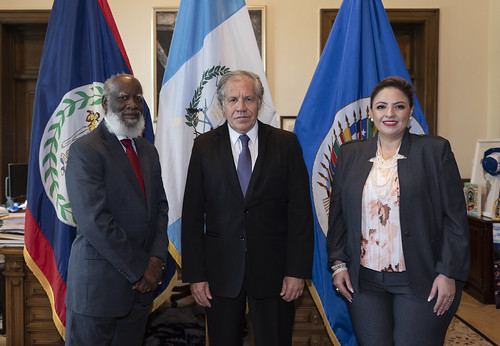 Foreign Ministers of Belize and Guatemala Highlight OAS Contribution to Seeking Solution to their Territorial Differendum
