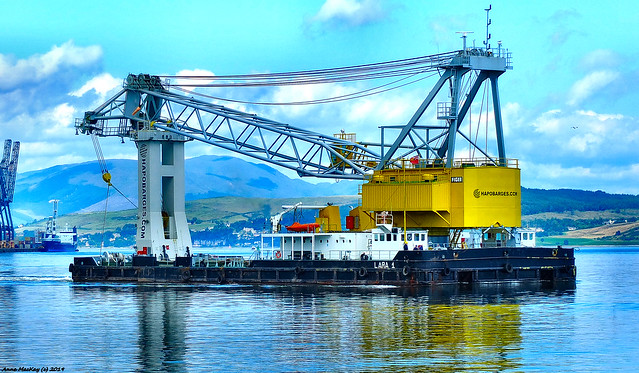 Scotland Greenock the heavy lifting crane Lara 1 15 July 2019 by Anne MacKay