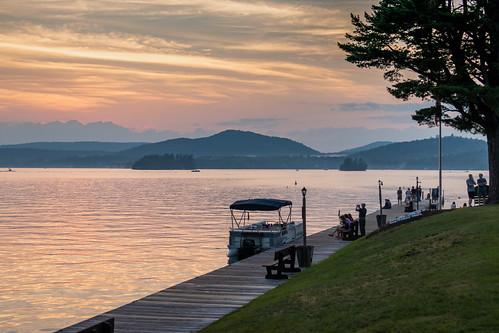 adirondacks dock lake sunset inlet newyork unitedstatesofamerica