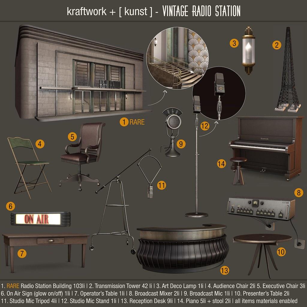 Kraftwork + [ kunst ] - Vintage Radio Station - TeleportHub.com Live!