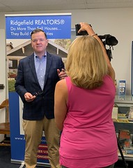 Rep. Frey is interviewed by Kristi Olds of the CT Association of Realtors and CT Realtors TV after speaking to the Ridgefield Board of REALTORS meeting regarding the recent legislative session.
