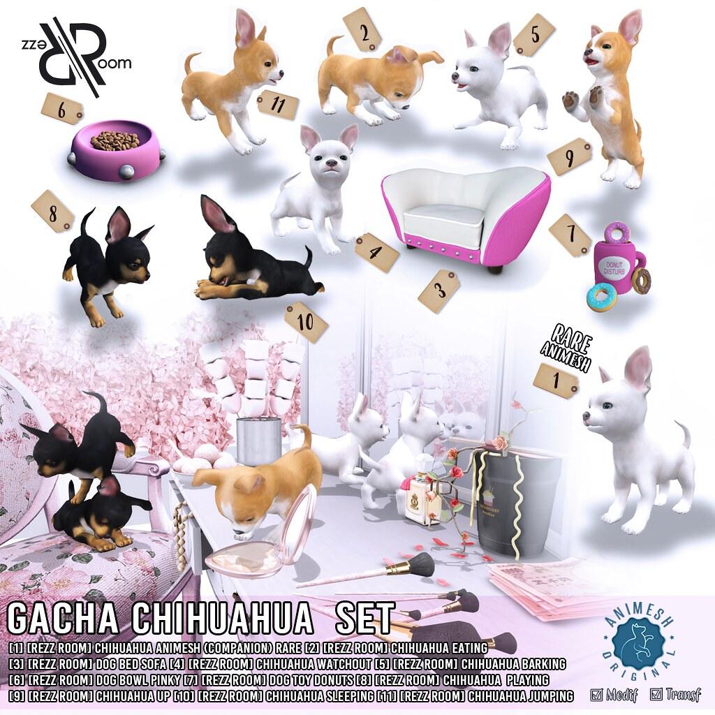 [Rezz Room]  Chihuahua Gacha Set Animesh